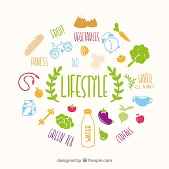 Estilo de vida saudável vector