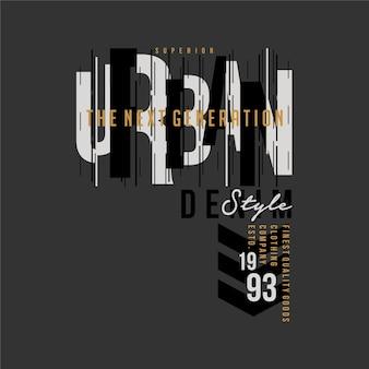 Estilo denim urbano ilustração gráfica tipografia design vetorial para impressão de camiseta casual