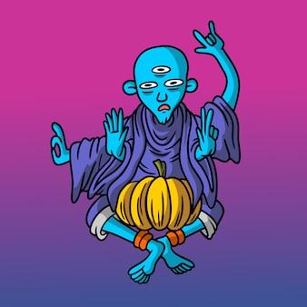 Estilo desenhado mão de monge
