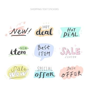 Estilo desenhado mão para conceito de design. ilustração doodle. conceito de compras