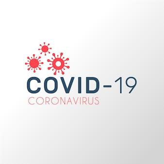 Estilo do logotipo de coronavírus