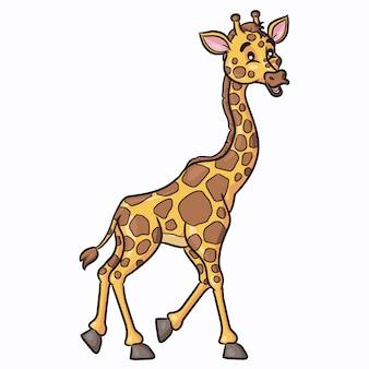 Estilo dos desenhos animados de girafa