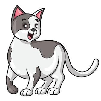 Estilo dos desenhos animados do gato
