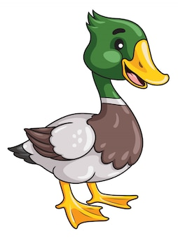 Estilo dos desenhos animados do pato