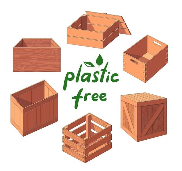 Estilo ecológico sem plástico, sem caixas de plástico