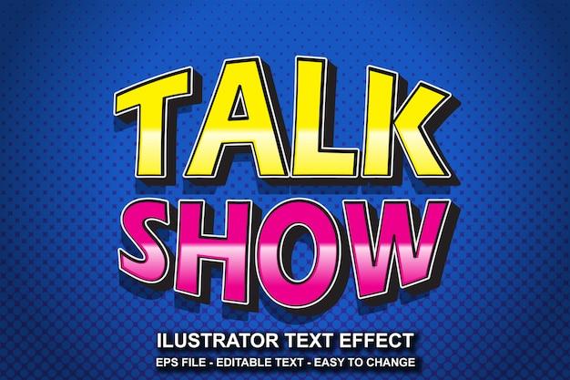 Estilo editável de talk show de efeitos de texto