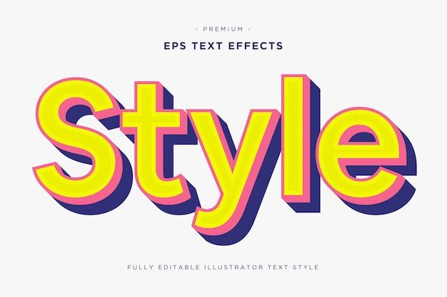 Estilo efeito de texto 3d