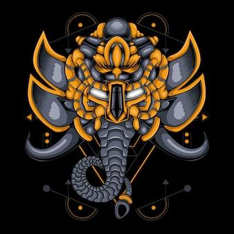 Estilo elefante ciborgue