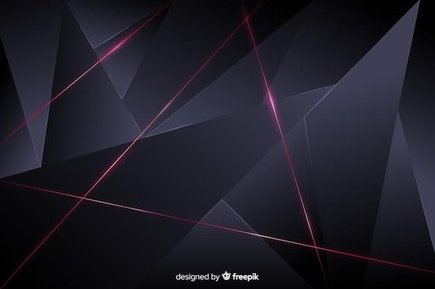 Estilo elegante de fundo escuro poligonal