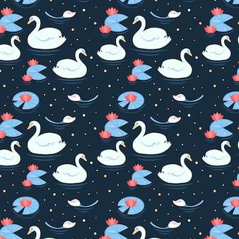 Estilo elegante padrão de cisne