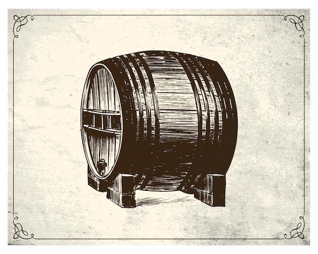 Estilo estacionado mão de barrel