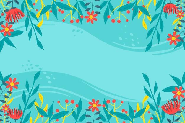 Estilo floral abstrato base plana