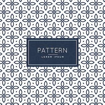 Estilo floral abstrato da linha do padrão