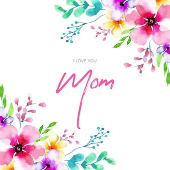 Estilo floral de celebração do dia das mães