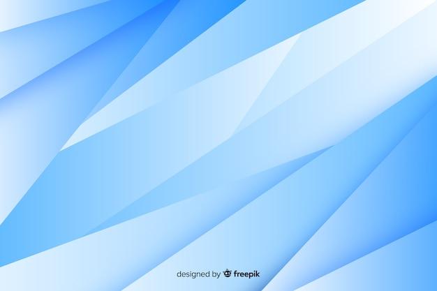 Estilo futurista de fundo de formas azuis