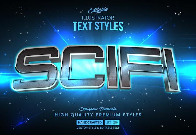 Estilo futurista de texto de ficção científica