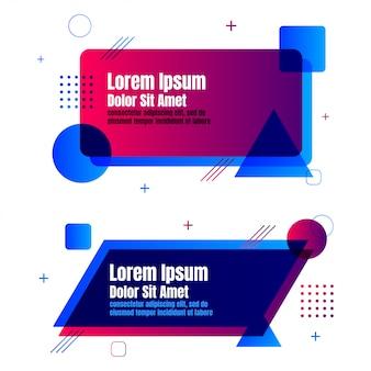 Estilo geométrico de design moderno banner modelo abstrato