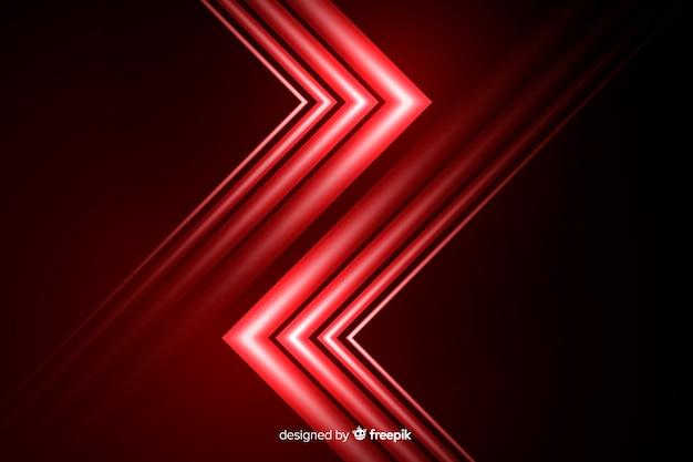 Estilo geométrico de fundo com luz vermelha