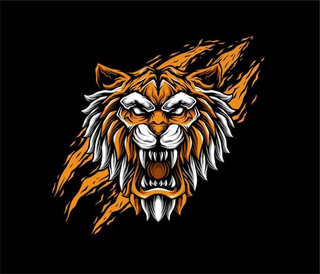 Estilo geométrico de ilustração de tigre