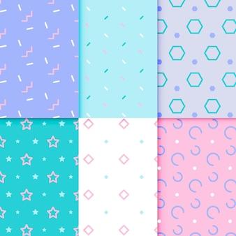 Estilo geométrico mínimo conjunto de padrões