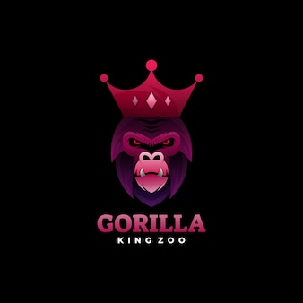 Estilo gorila gradiente colorido logotipo.