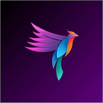 Estilo gradiente colorido da ilustração de phoenix