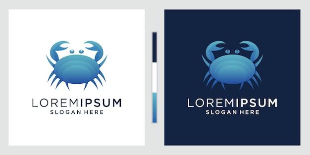 Estilo gradiente colorido do logotipo caranguejo.