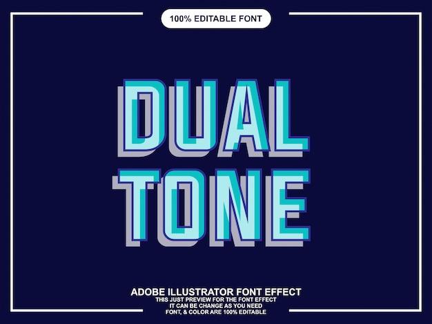 Estilo gráfico de tipografia editável duplo moderno