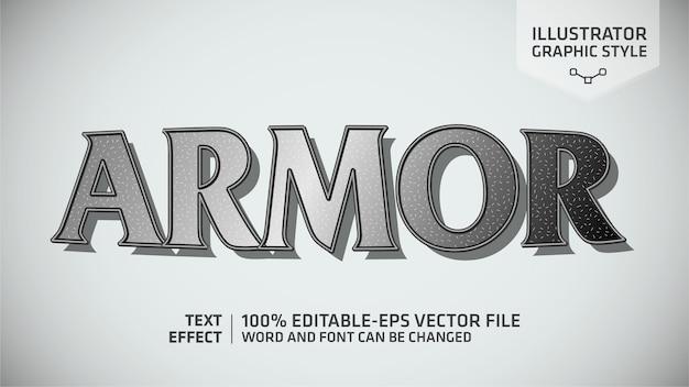 Estilo gráfico do efeito armor metal text