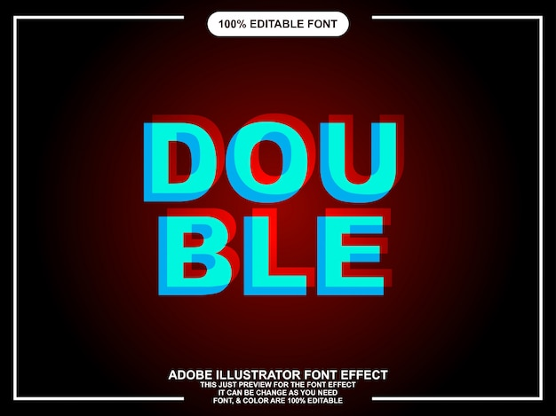 Estilo gráfico tipografia moderna dupla negrito editável