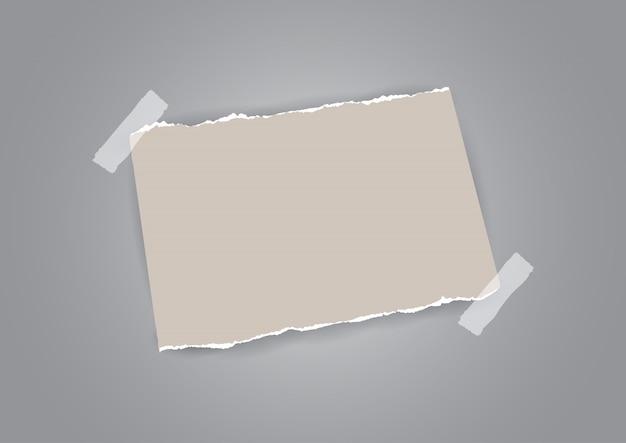 Estilo grunge com papel rasgado e desenho de fita
