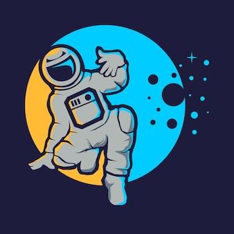 Estilo hip hop de astronauta fofo