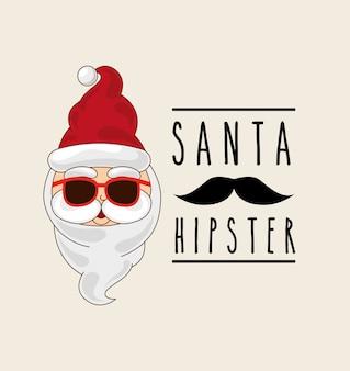 Estilo hipster de natal