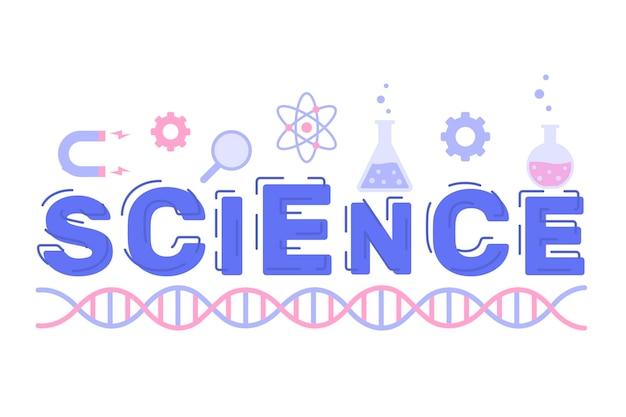 Estilo ilustrado palavra ciência
