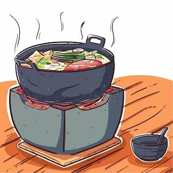 Estilo japonês de sukiyaki