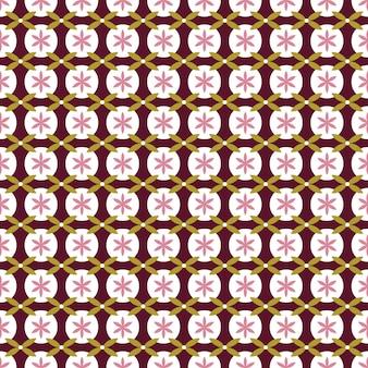 Estilo japonês sem costura padrão, fundo geométrico flor