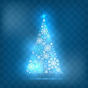 Estilo leve de árvore de natal