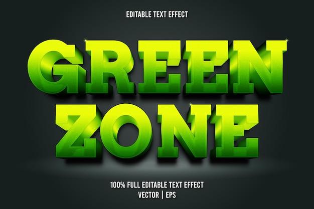 Estilo luxuoso de efeito de texto editável da zona verde