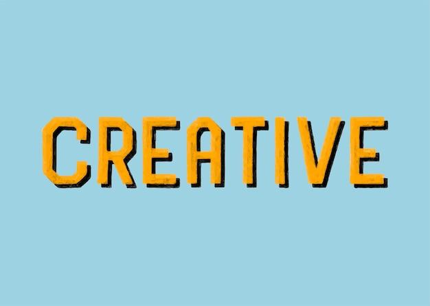 Estilo manuscrito de tipografia criativa