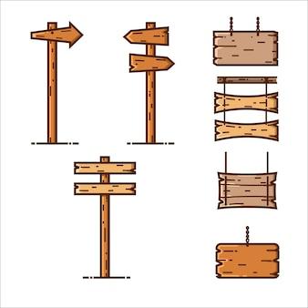Estilo mbe de sinal de madeira