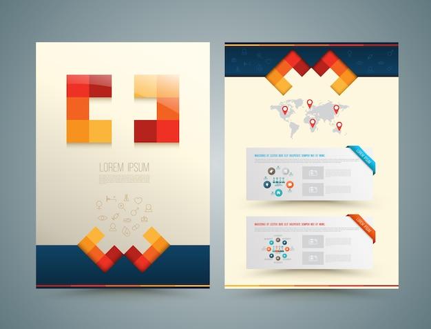 Estilo médico de design de folheto ou panfleto