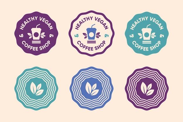 Estilo minimalista do conjunto de logotipo colorido