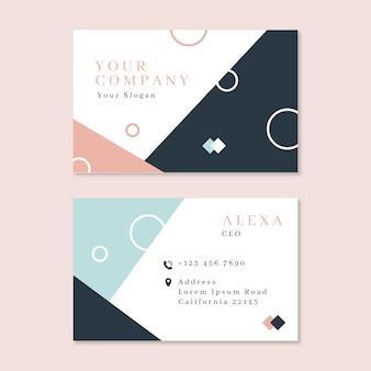 Estilo minimalista para cartão de visita
