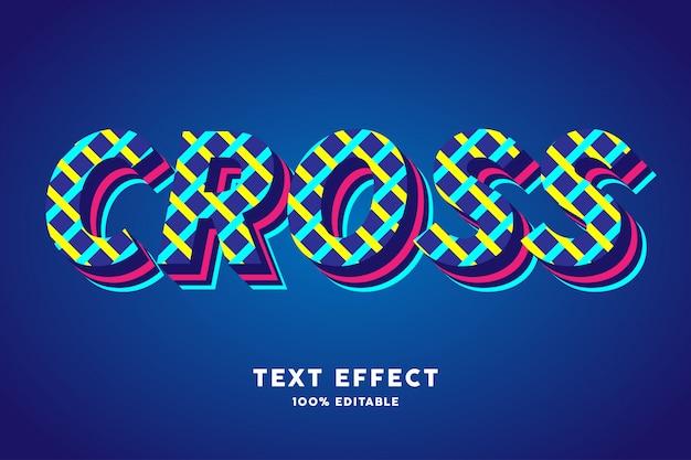 Estilo moderno com efeito de texto de linha tecida