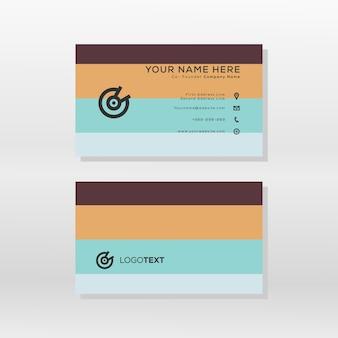 Estilo moderno da paleta da cor do cartão de visita