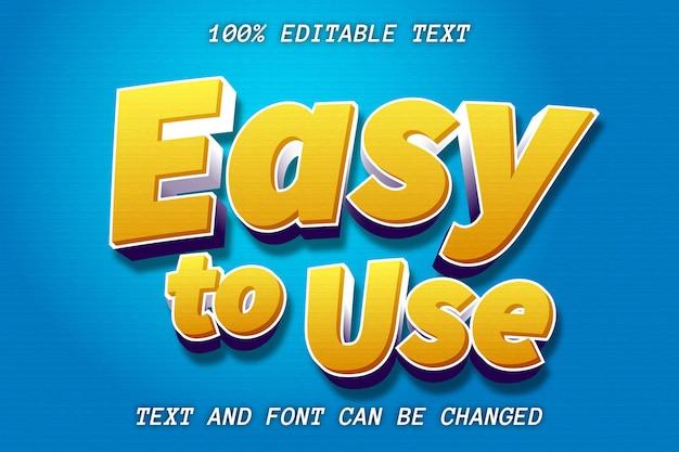 Estilo moderno de efeito de texto editável fácil de usar