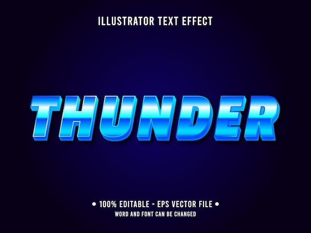 Estilo moderno de efeito de texto editável thunder
