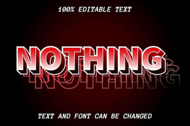 Estilo moderno de efeito de texto nada editável