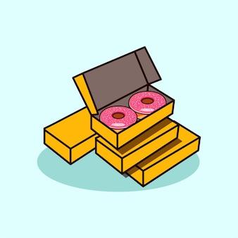 Estilo moderno de ícone de ilustração de donuts