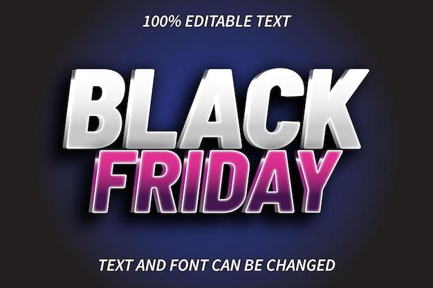Estilo moderno do efeito de texto editável da black friday